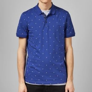 Ted Baker Palm Tree Cotton Polo Shirt